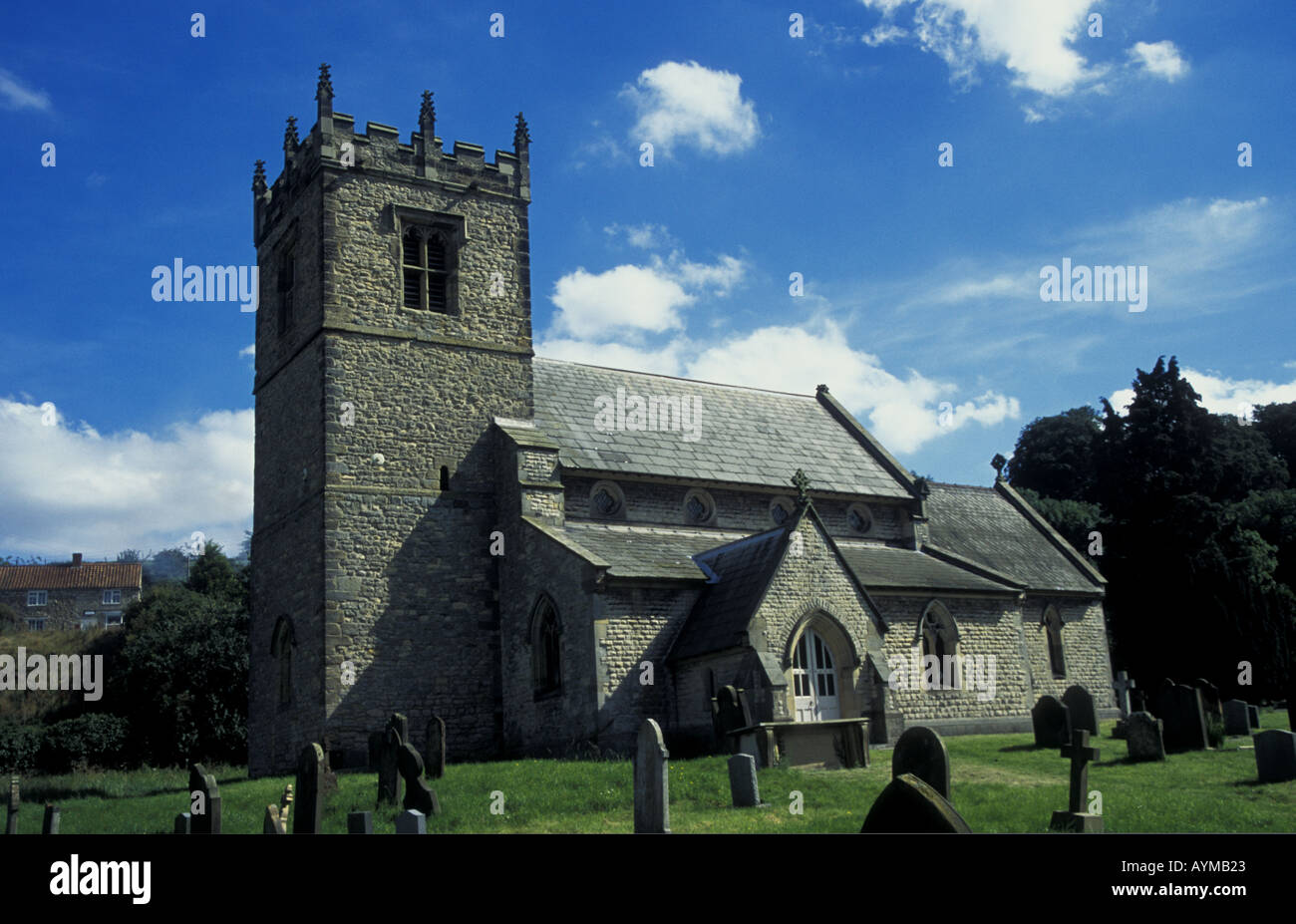 Stonegrave Minster Holy Trinity North Yorkshire - Stock Image