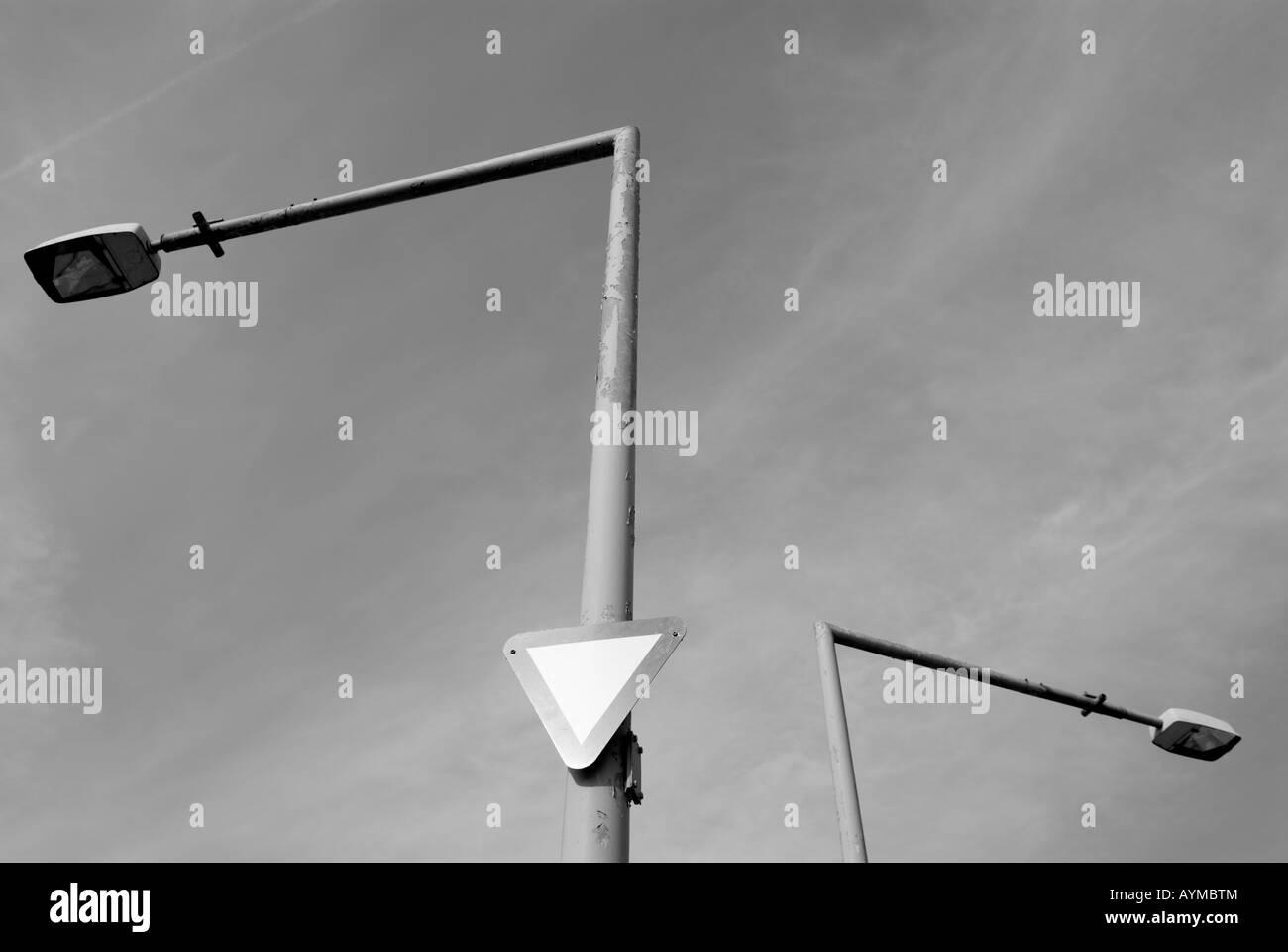 STREET LAMPS - Stock Image
