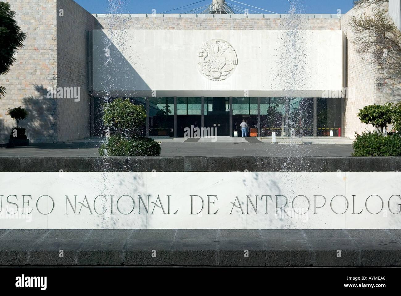 Mexico City National Anthropological Museum exterior Museo Nacional de Antropología - Stock Image