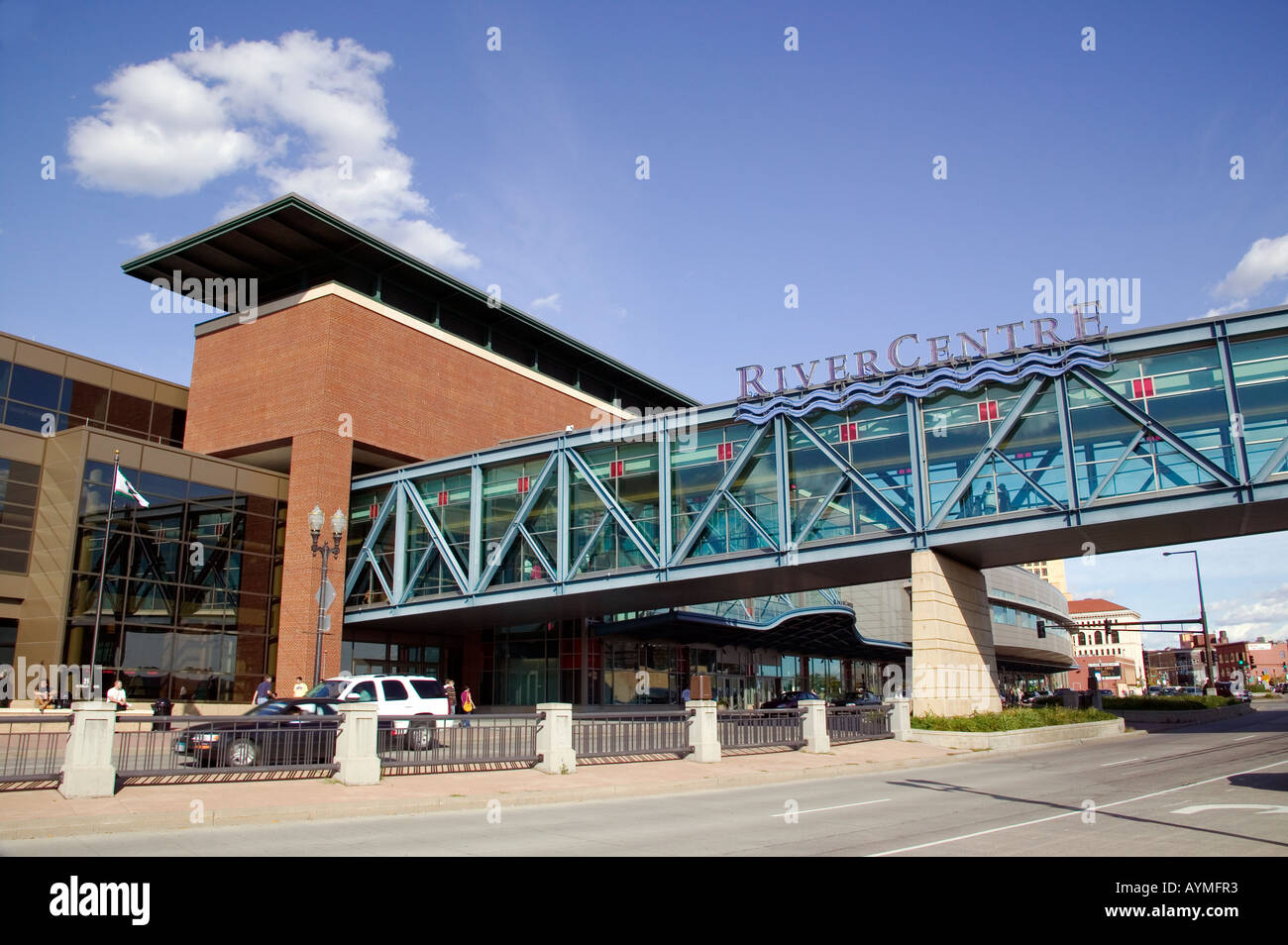 The River Center is a venue for events such as concerts and conventions in St Paul Minnesota - Stock Image