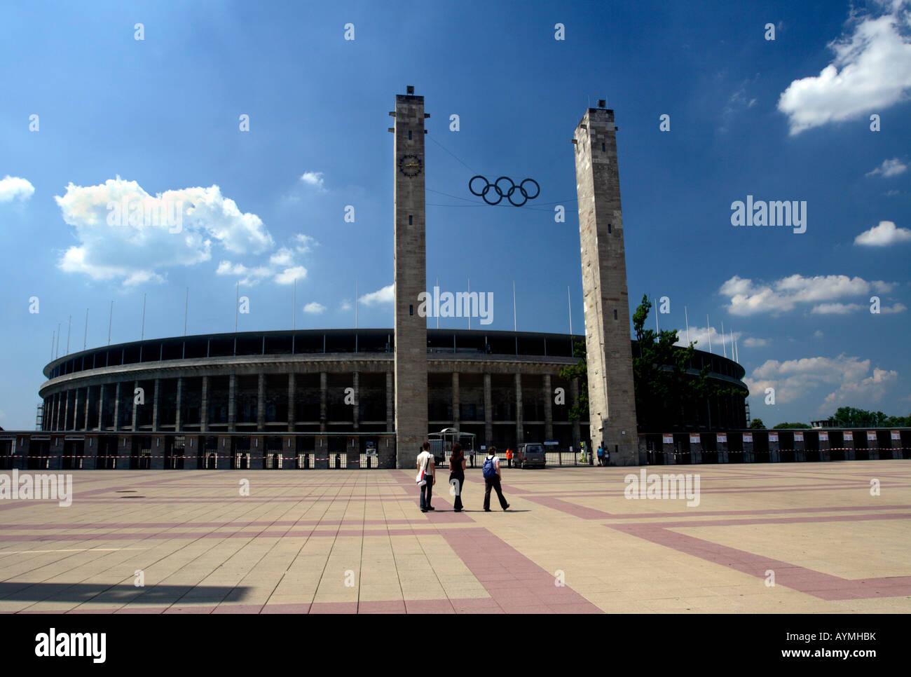Entrance to Olympic Stadium (Olympiastadion), Berlin, Germany - Stock Image