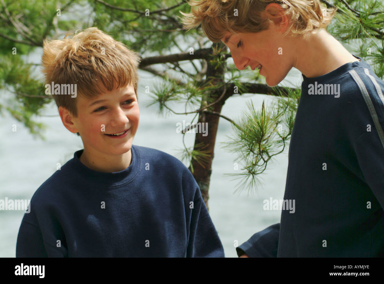 outdoor woods backgrounds. Brilliant Backgrounds Teen Boys In Outdoor Woods Setting With Pine Tree And Water Background With Outdoor Woods Backgrounds O