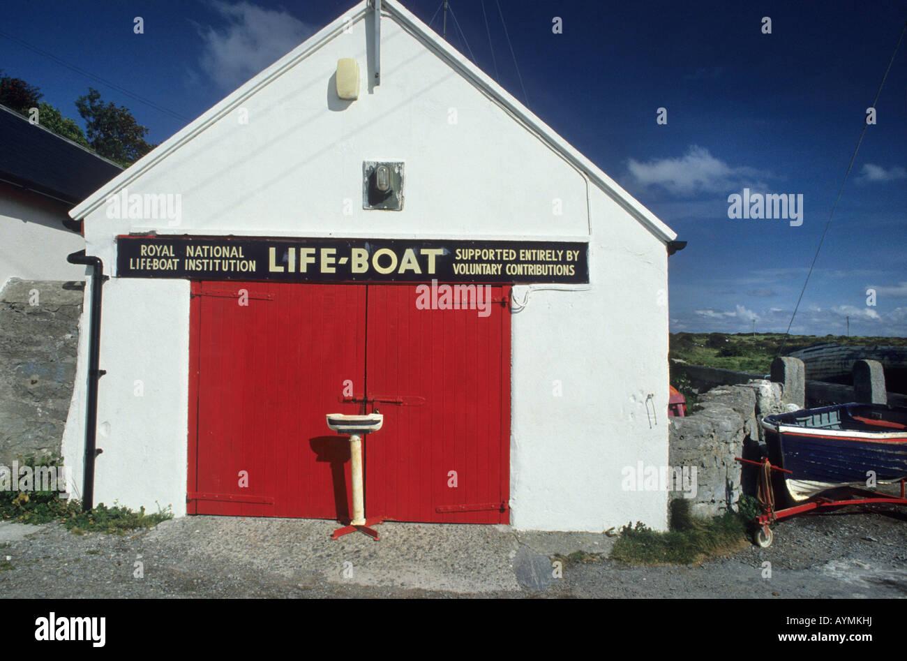 Old lifeboat house, Inishmore, Aran Islands, Ireland - Stock Image