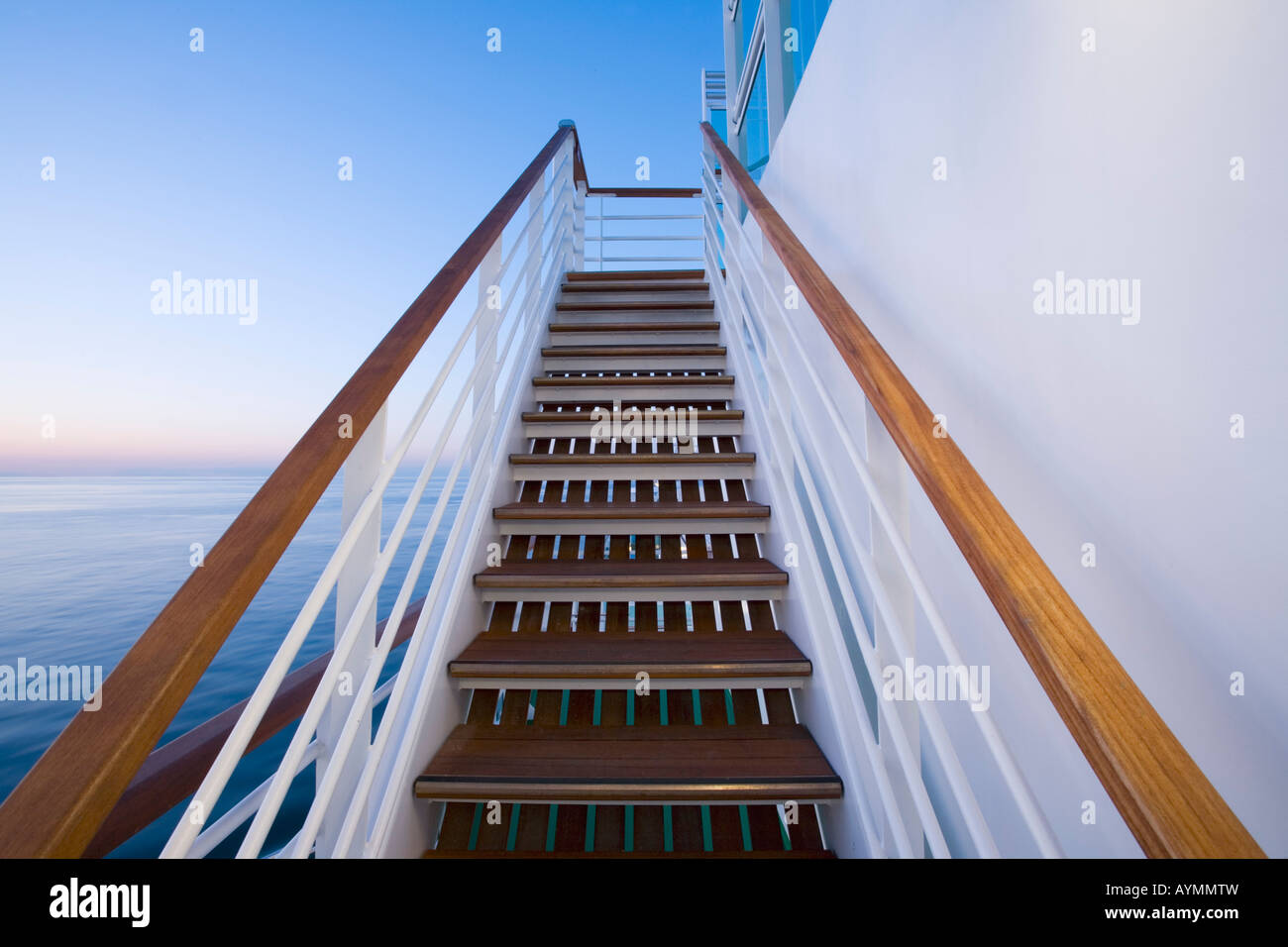 Steps on a Cruise Ship - Stock Image