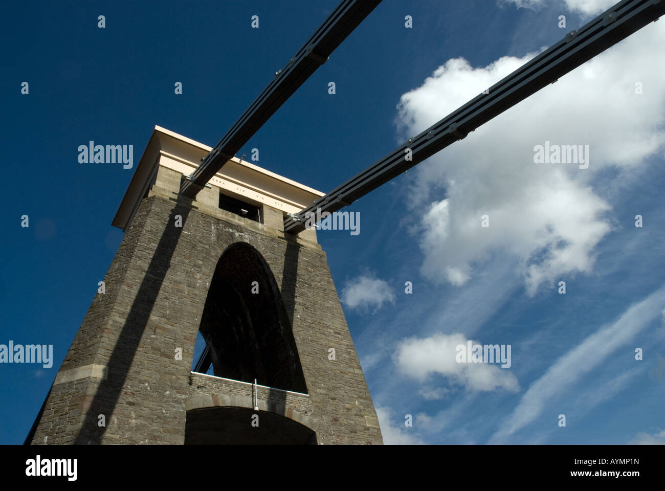 Tower of the Clifton Suspension Bridge - Stock Image