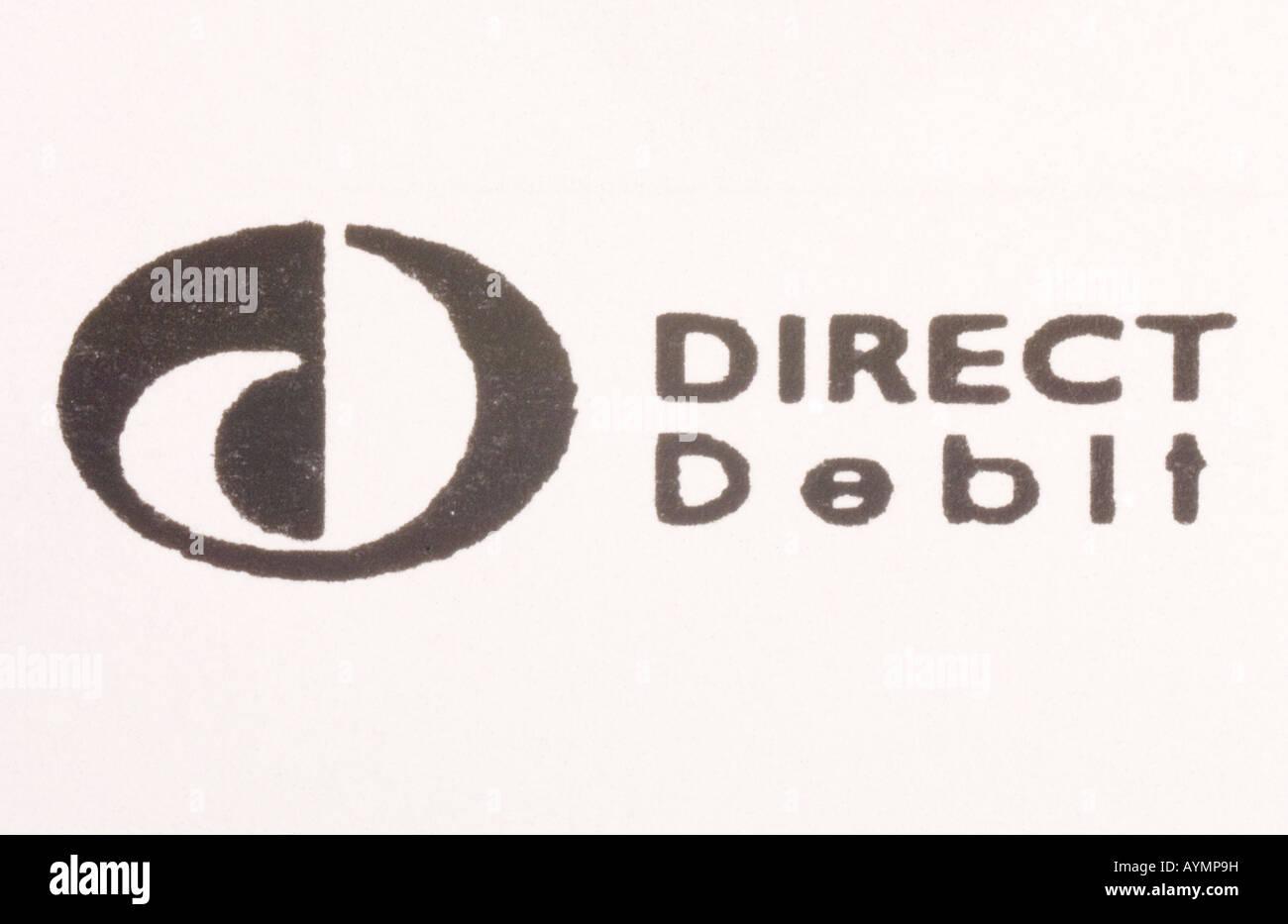 Direct Debit Logo - Stock Image
