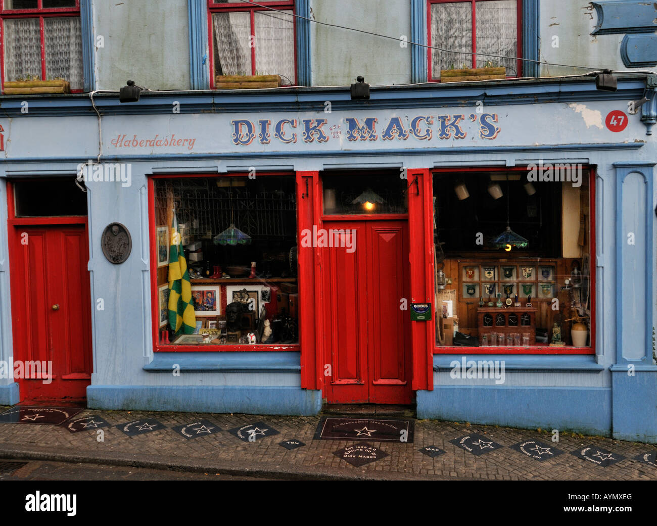Dick Macks Famous Pub And Haberdashery With A Red Door In Dingle