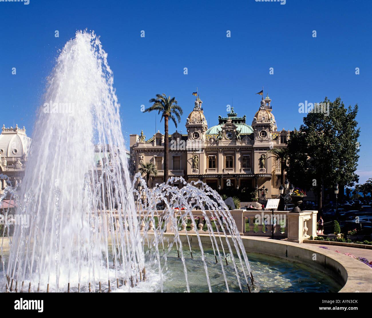Europa Europe Cote D Azur Monaco Monte Carlo Casino Kasino Stock Photo