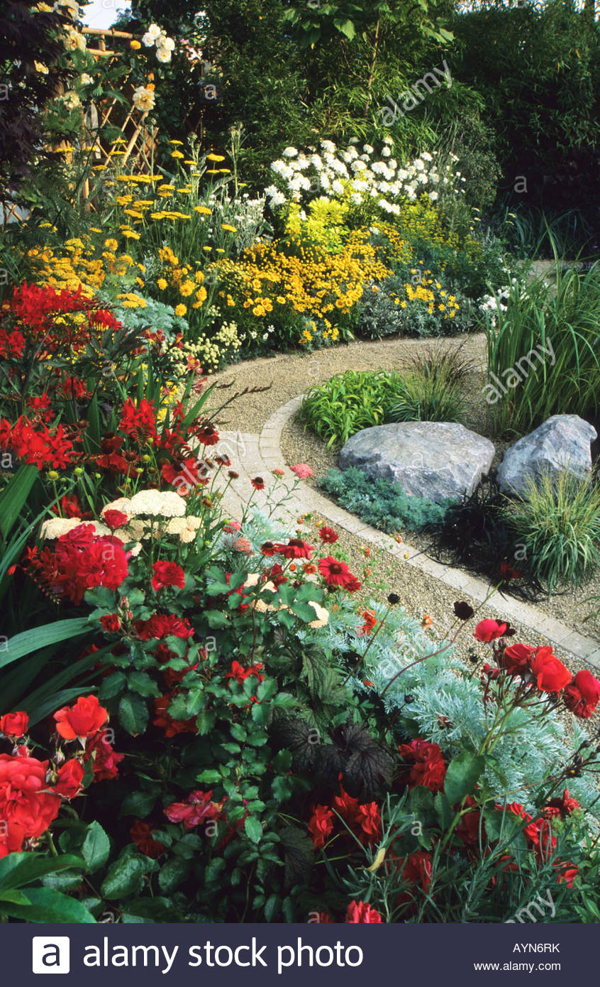 Feng Shui Garden Design Pamela Woods Hoy Colour Borders Meandering Path  Rocks July
