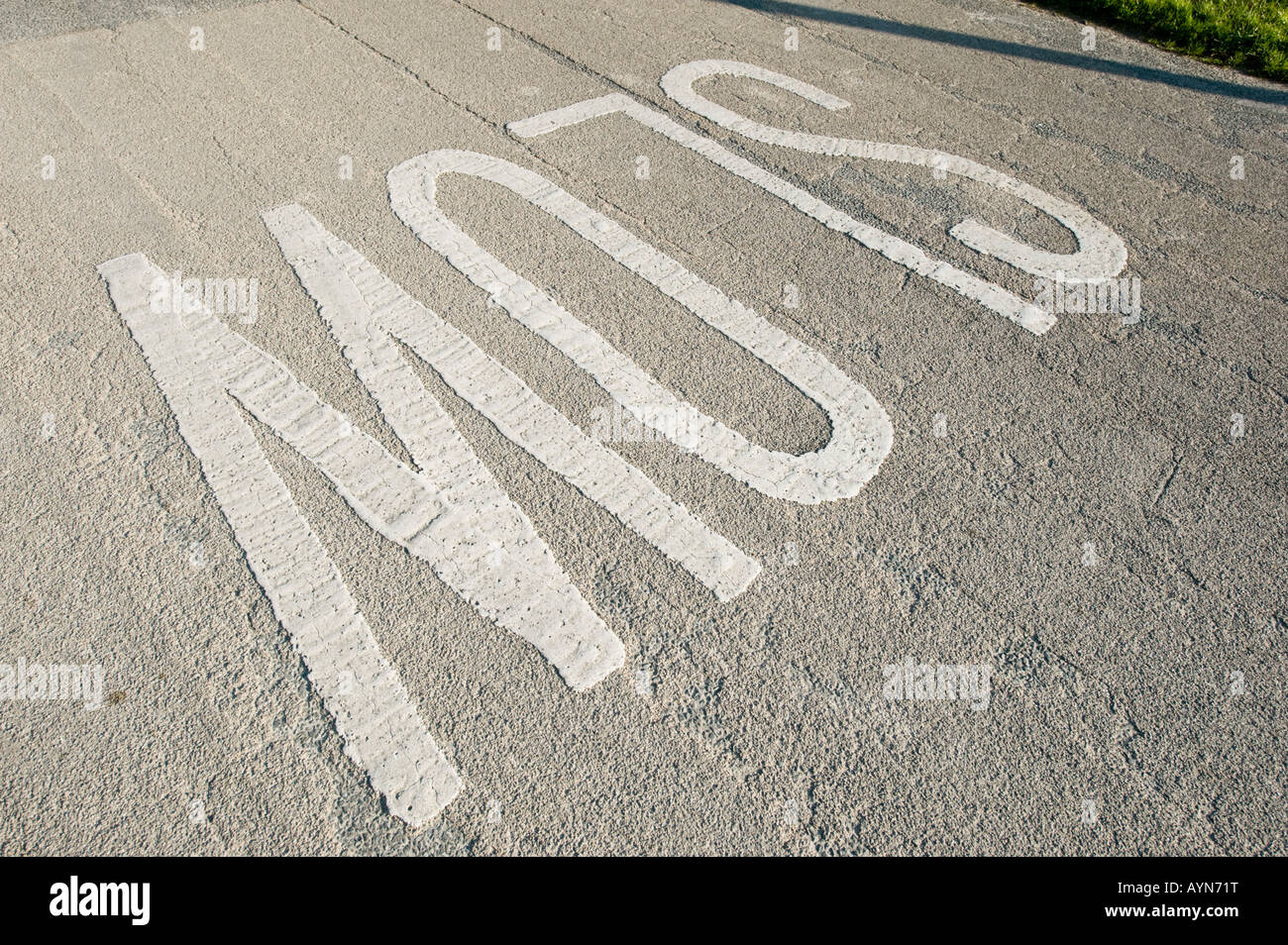 Road Traffic instruction sign - SLOW - Stock Image