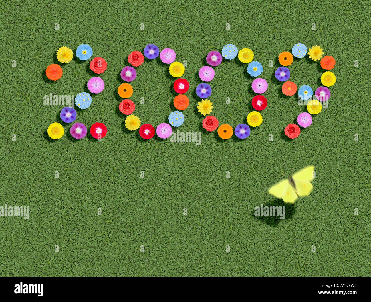 year written spelled out prewritten edited Stock Photo