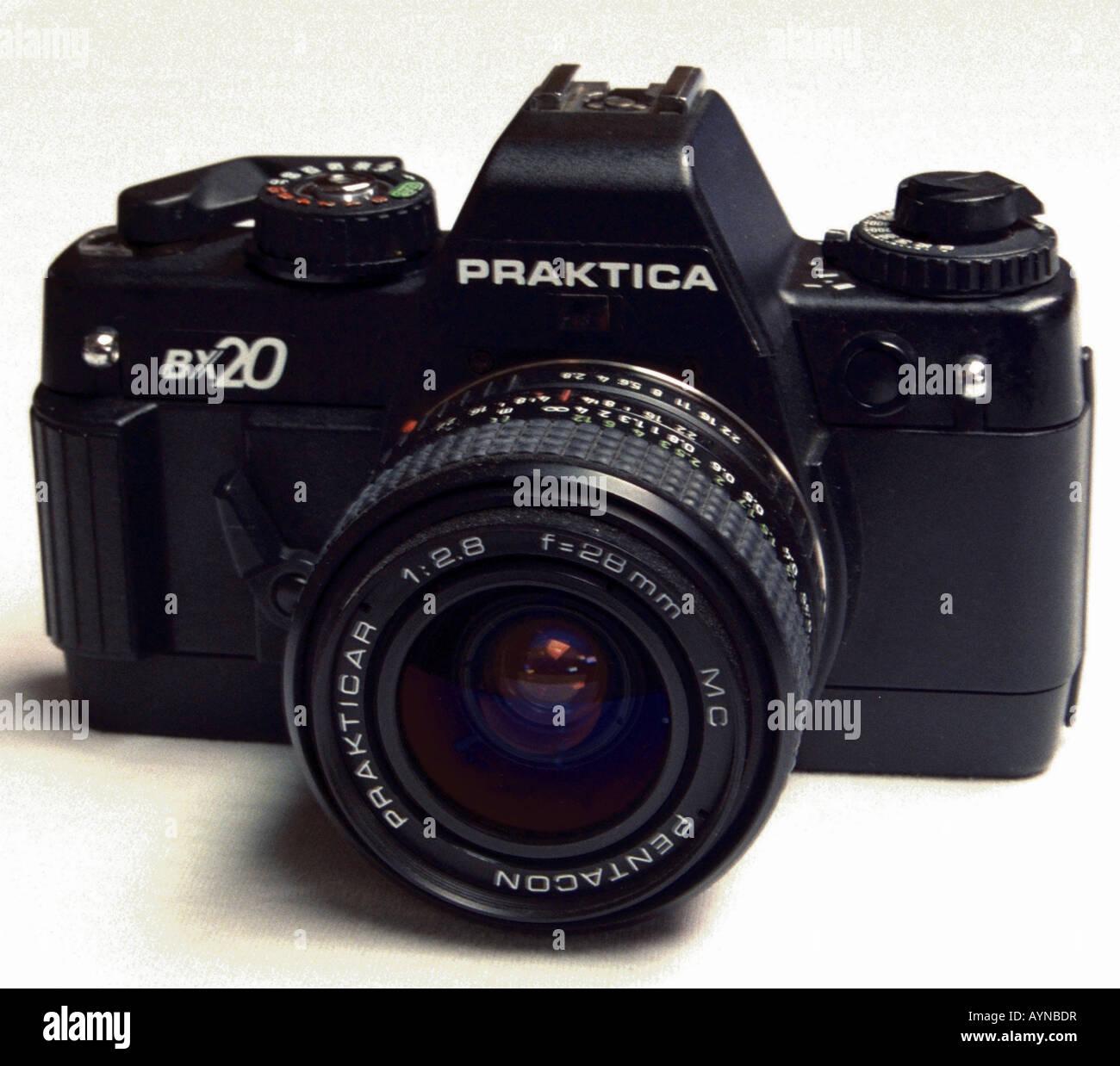 photography, cameras, small film reflex camera Praktica BX 20, produced by VEB Pentacon Dresden, 1986 / 1987, design - Stock Image