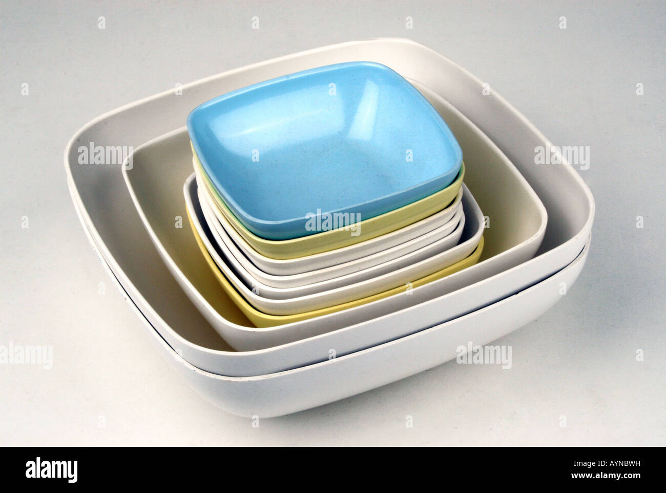 Pieces Of Melamine Resin Set Fot Table And Kitchen Stock Photos ...