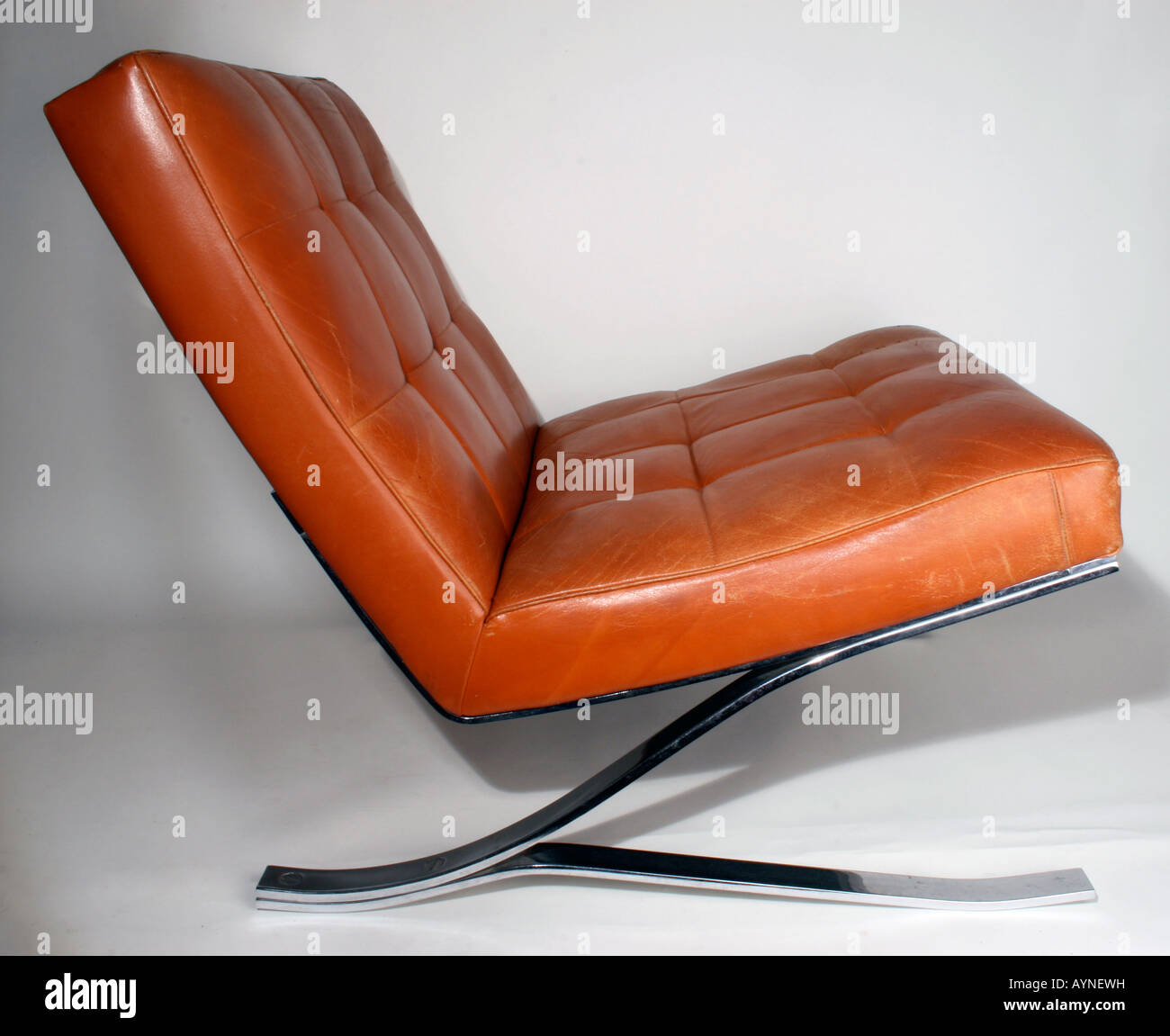 Furnishing, Furniture, Chairs, Club Leather Armchair (alternate Draft To  Barcelona Chair