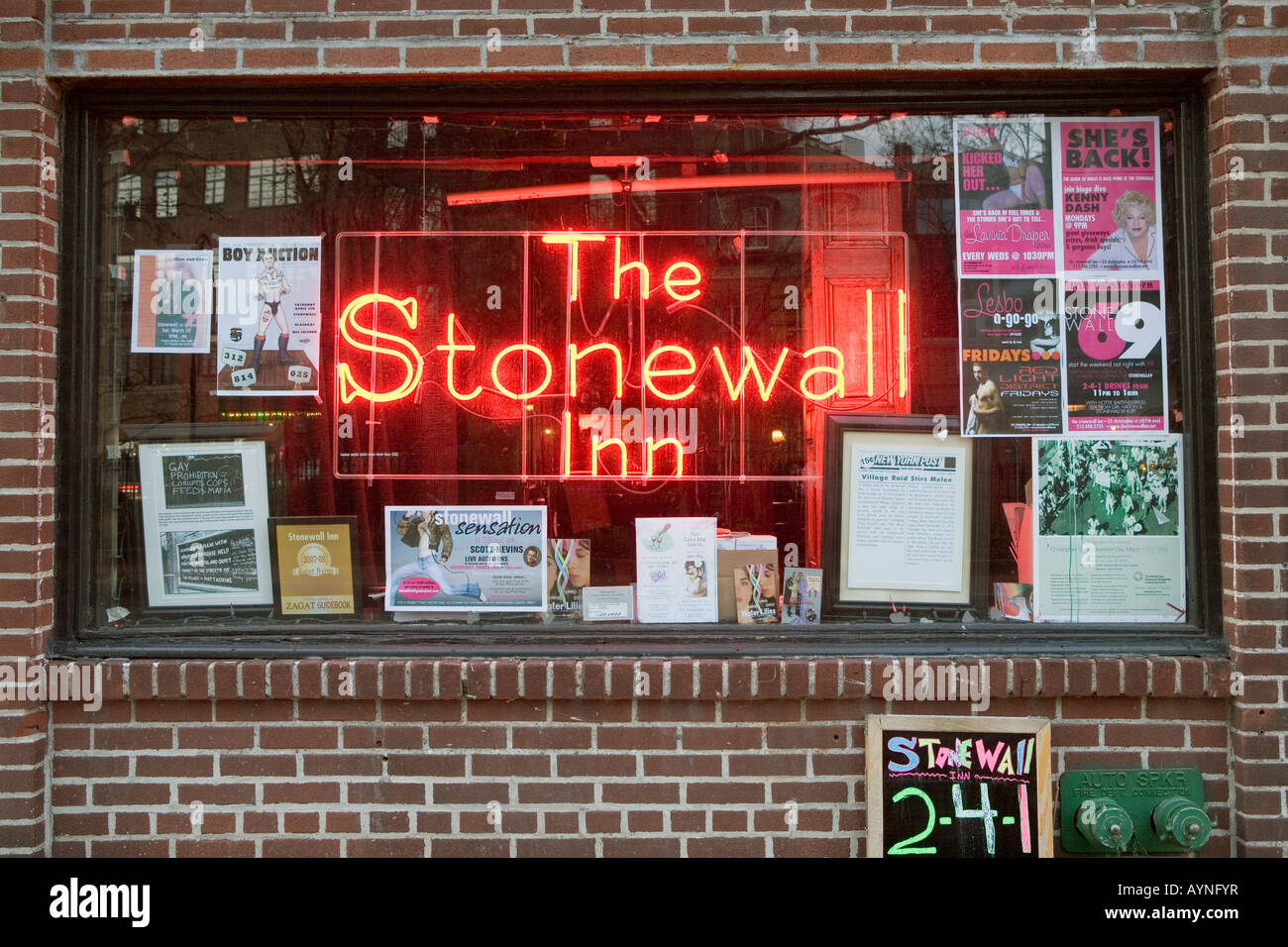 The Stonewall Inn riot 1969 started gay rights movement West Village New  York City - Stock