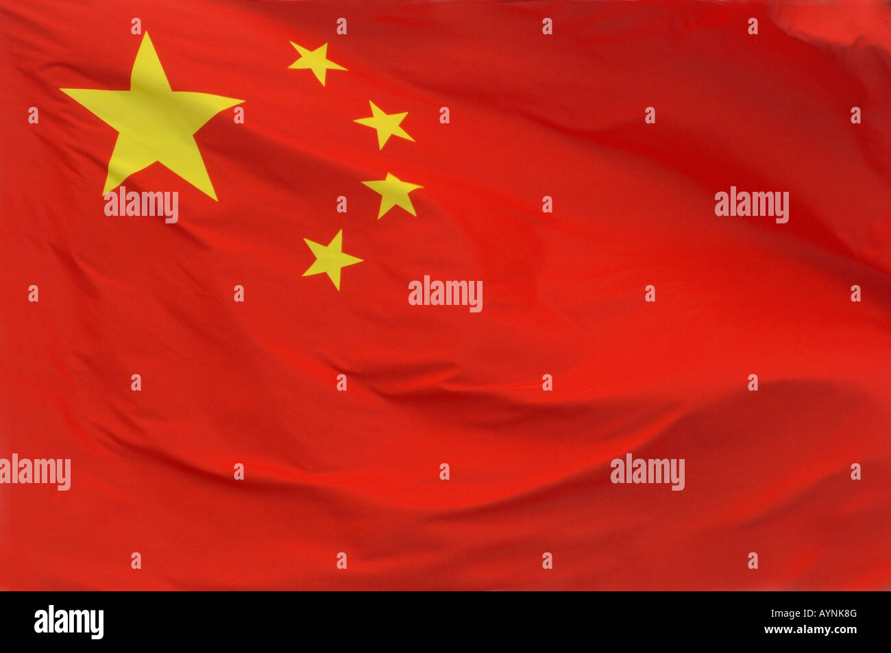 A Chinese flag - Stock Image