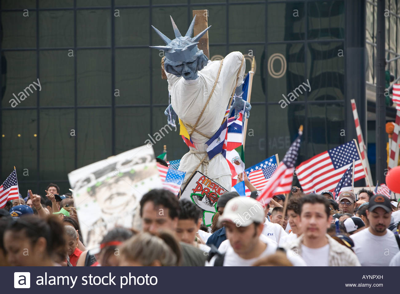 March for immigration reform Chicago - Stock Image
