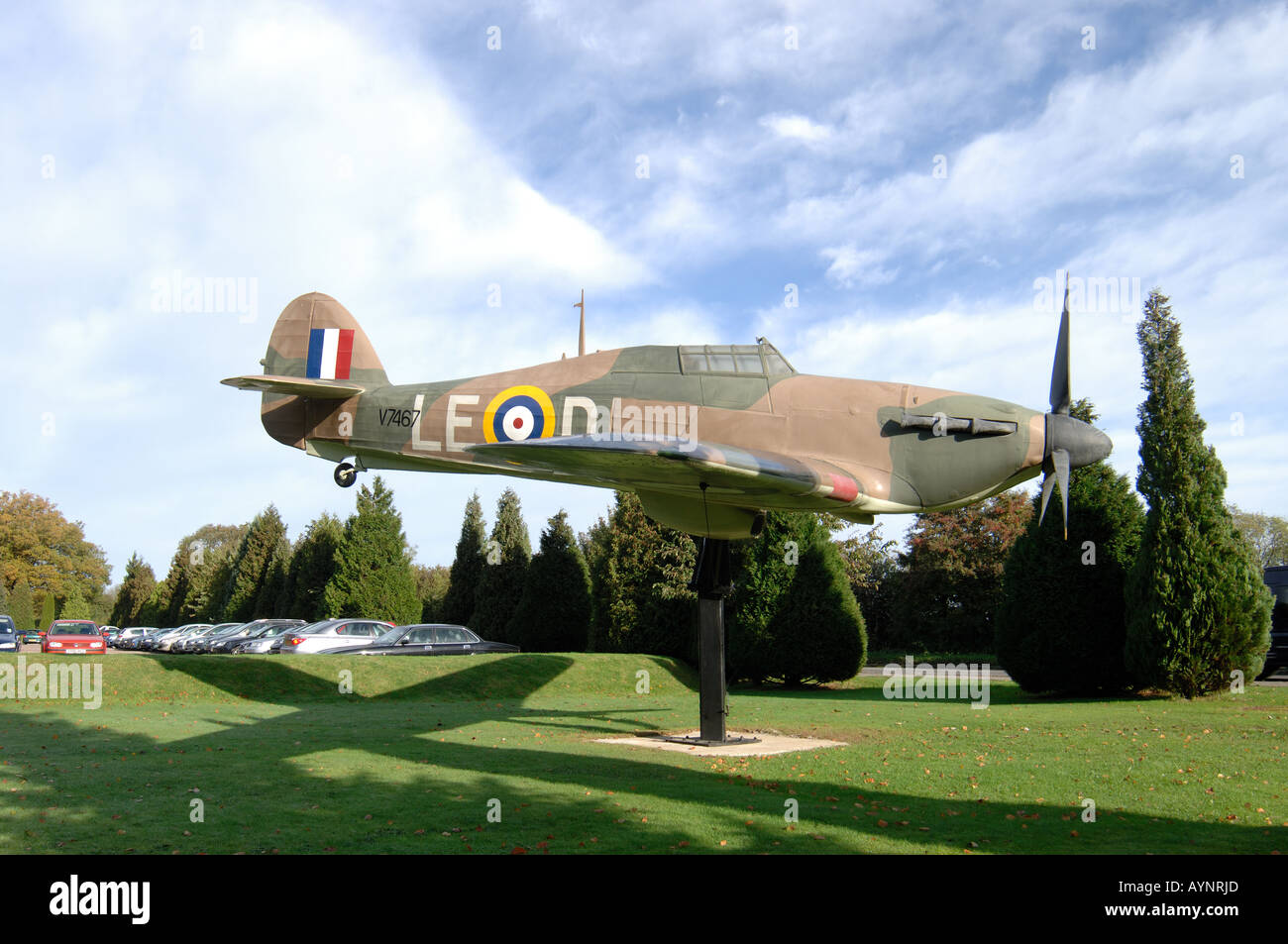 The first full-size gate guardian at the RAF headquarters in Naphill has been unveiled - Stock Image