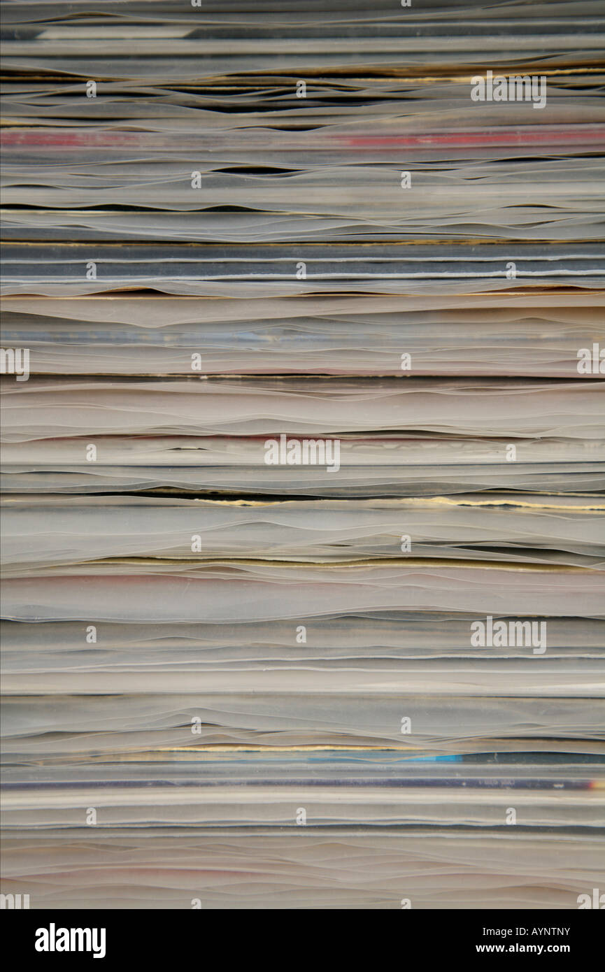 Piled up paper - Stock Image