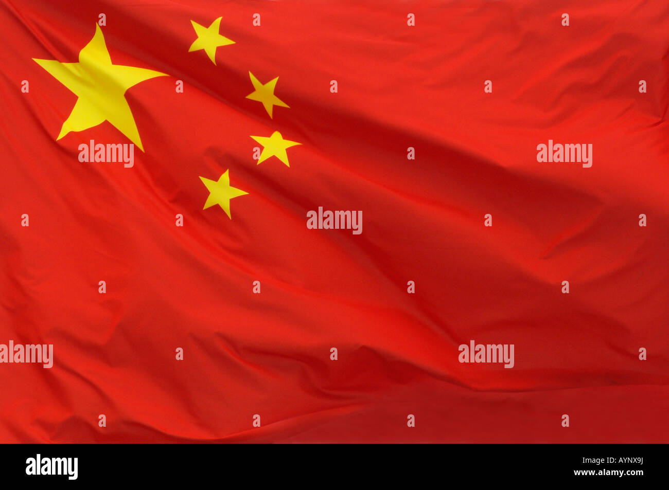 A Chinese flag in China - Stock Image