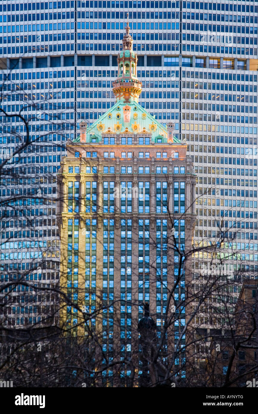 The Helmsley Building and Metropolitan Life Building formerly Pan Am Building New York City - Stock Image