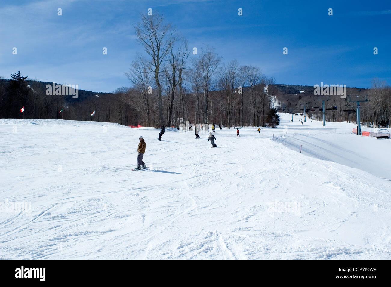 killington ski resort vermont usa stock photo: 9802397 - alamy