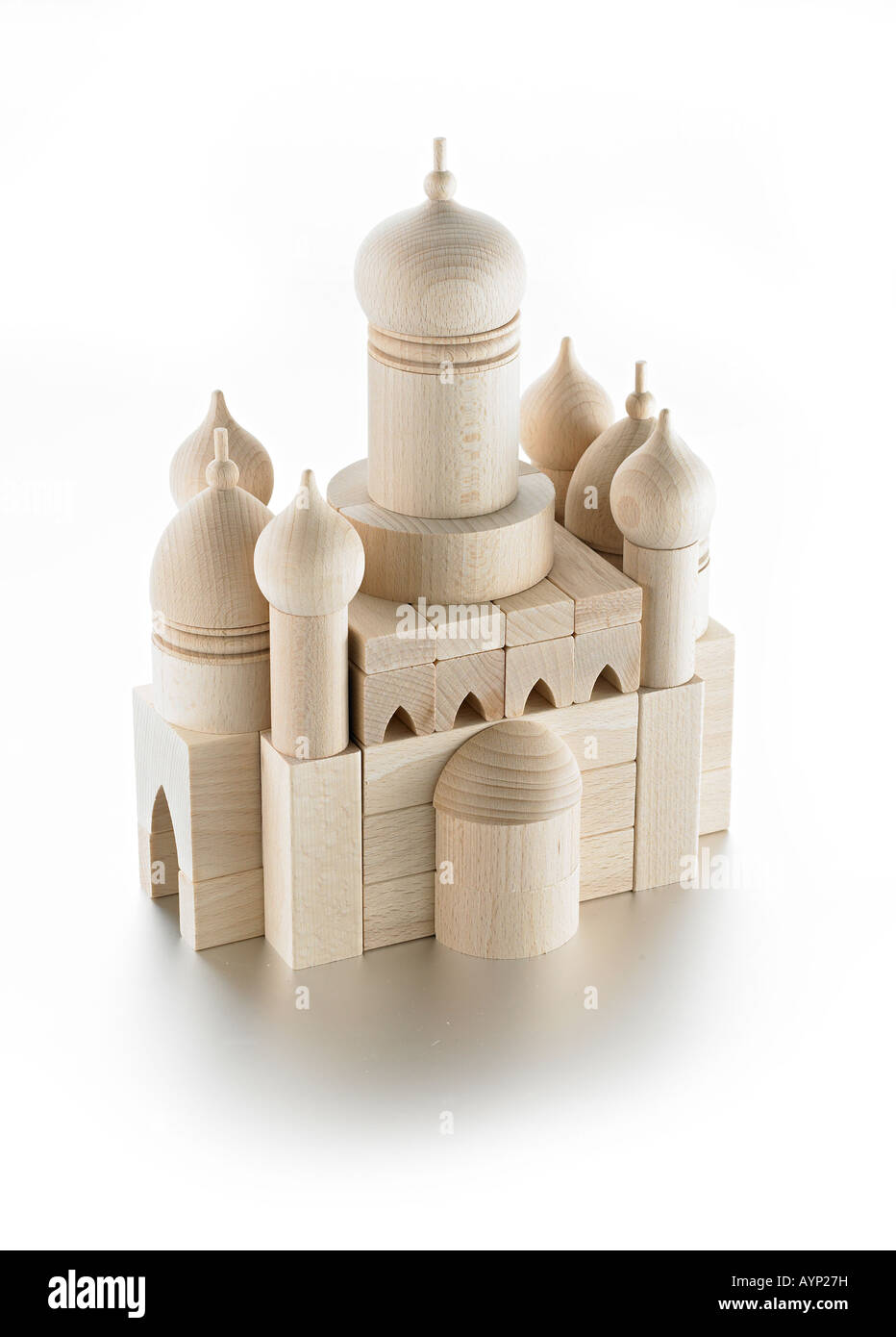 wooden toy mosque - Stock Image