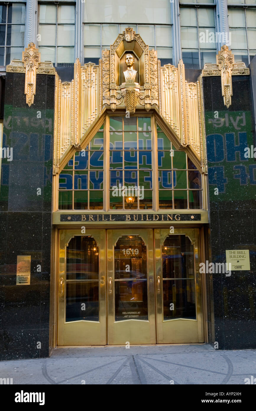 The Brill Building Theater District New York City Stock