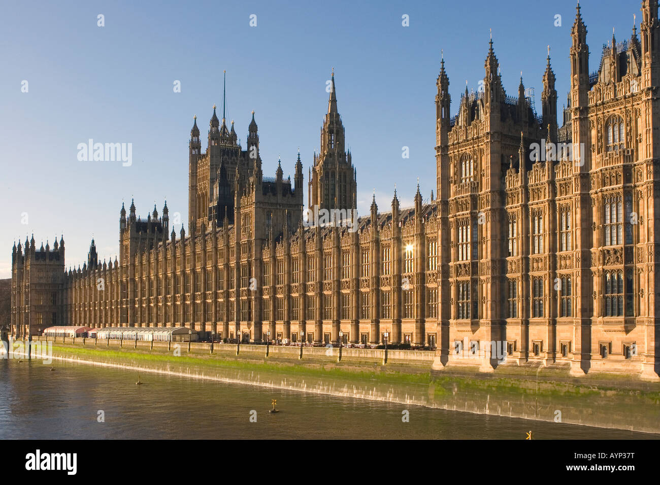 The Houses of Parliament viewed from Westminster Bridge,London, England - Stock Image