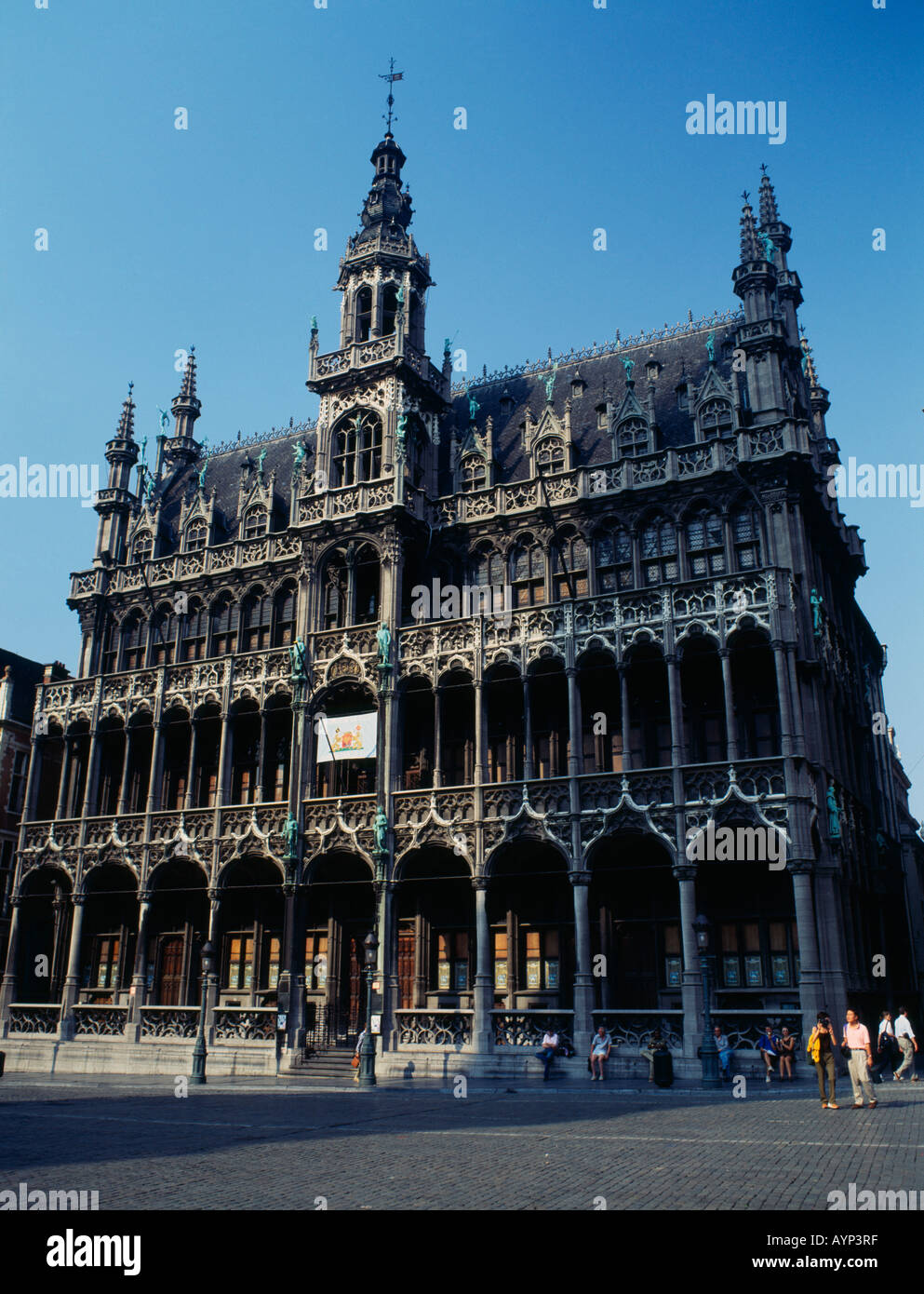 BELGIUM Brabant Brussels Grand Place square Maison du Roi Household of the King now housing the City Museum - Stock Image