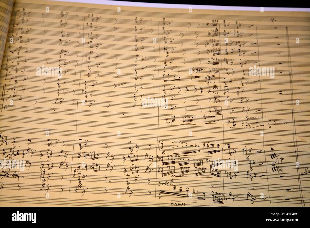 Dvorak Prague Dvorak museum autograph score symphony 9 E