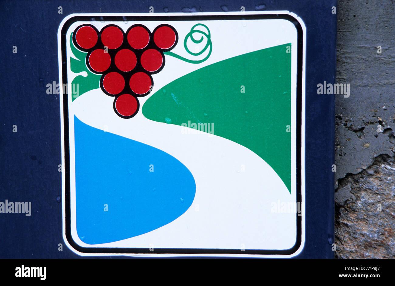 Wine Route sign Bardolino east side of Lago di Garda - Stock Image  sc 1 st  Alamy & Garda To Bardolino Route Stock Photos u0026 Garda To Bardolino Route ...