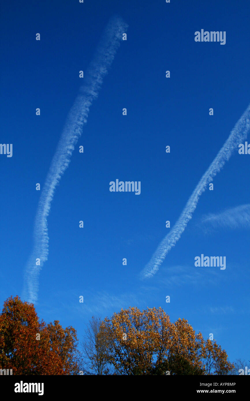 Jet Contrails - Stock Image