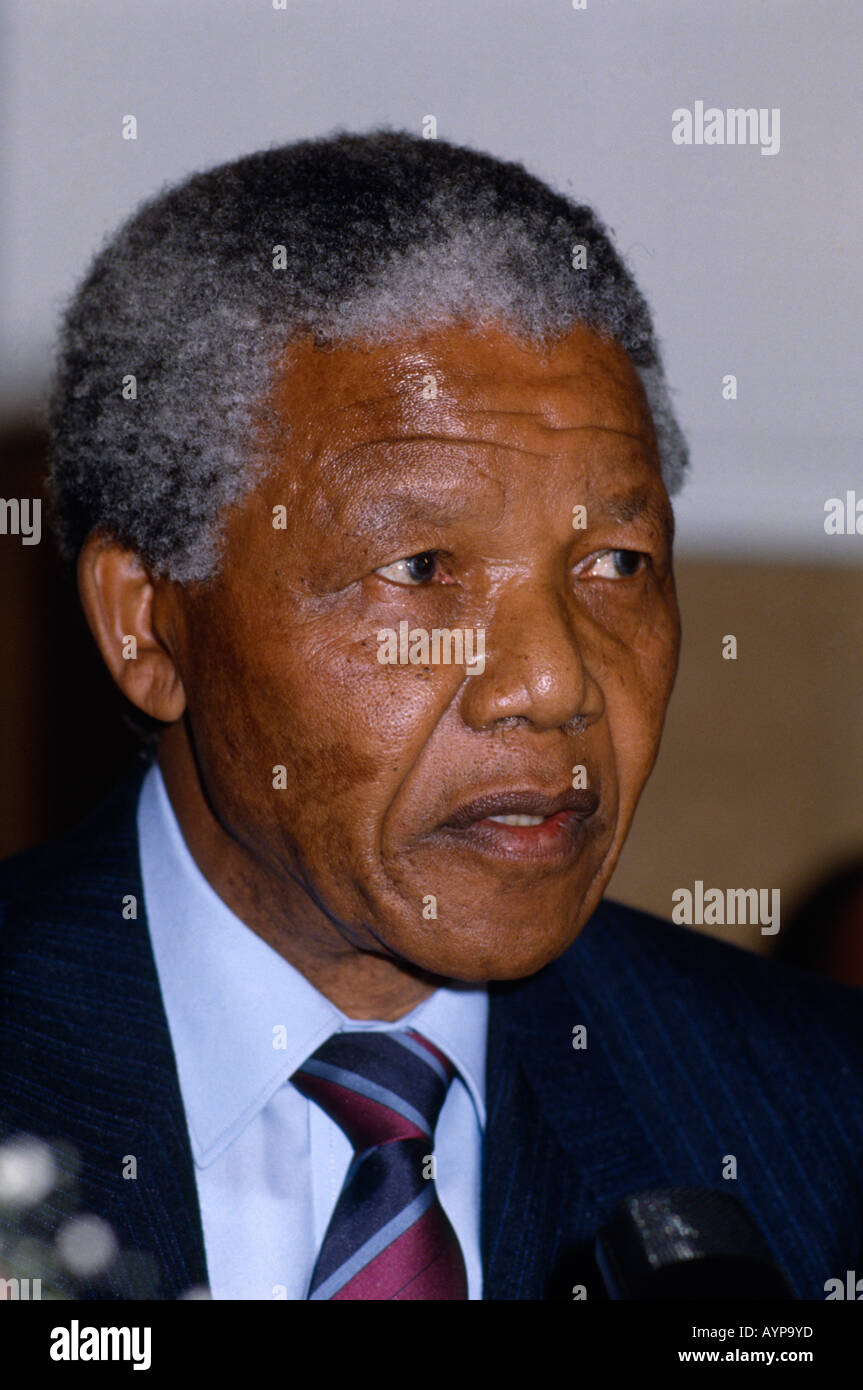 SOUTH AFRICA Politics Former President Nelson Mandela and ANC African National Congress leader - Stock Image
