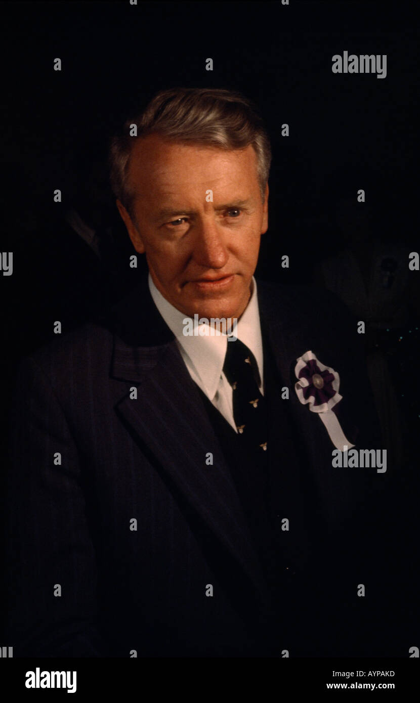ZIMBABWE East Africa People Politics Portrait of former Prime Minister of Rhodesia Ian Smith - Stock Image