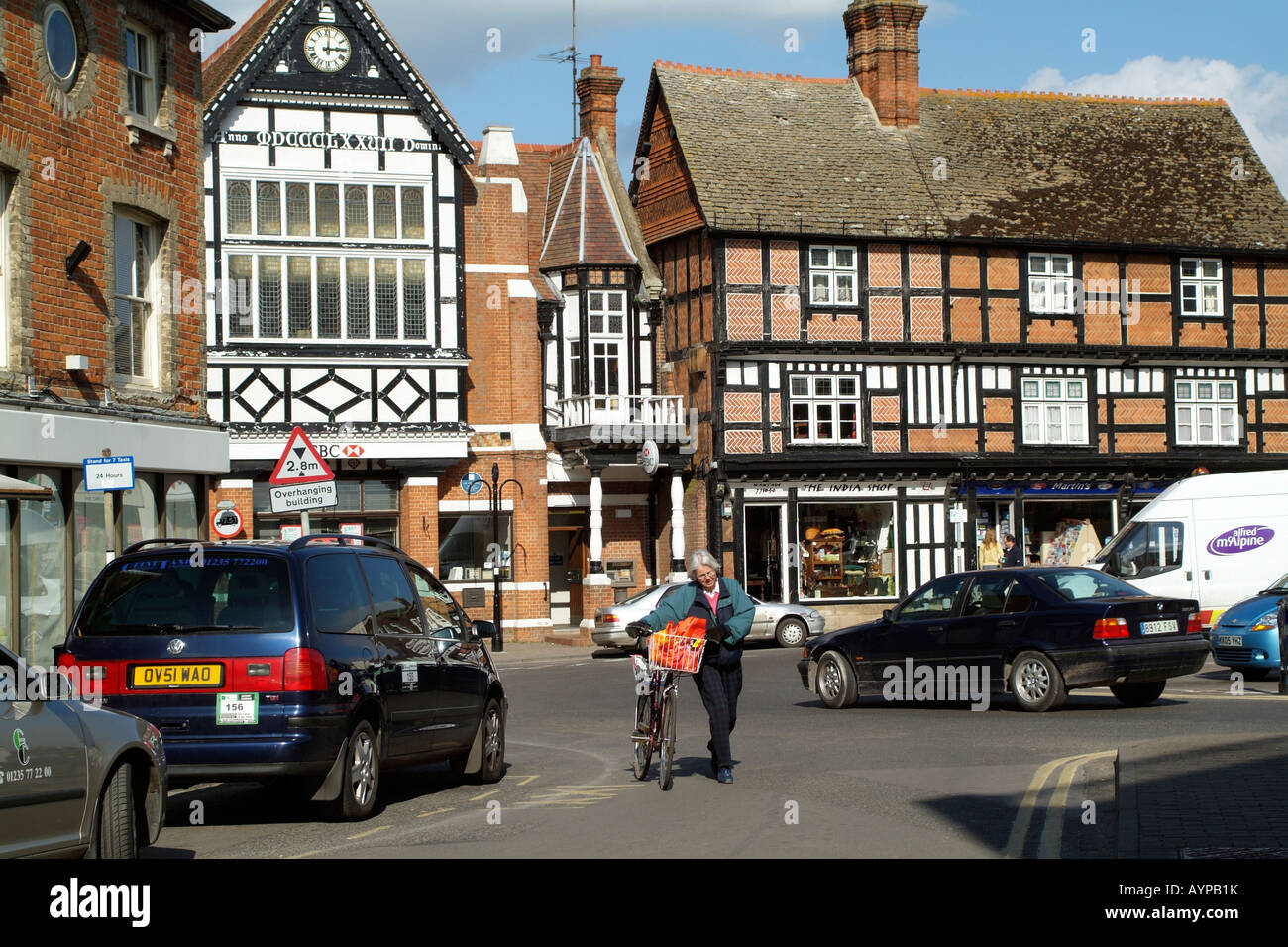 Market Town of Wantage Oxfordshire England - Stock Image