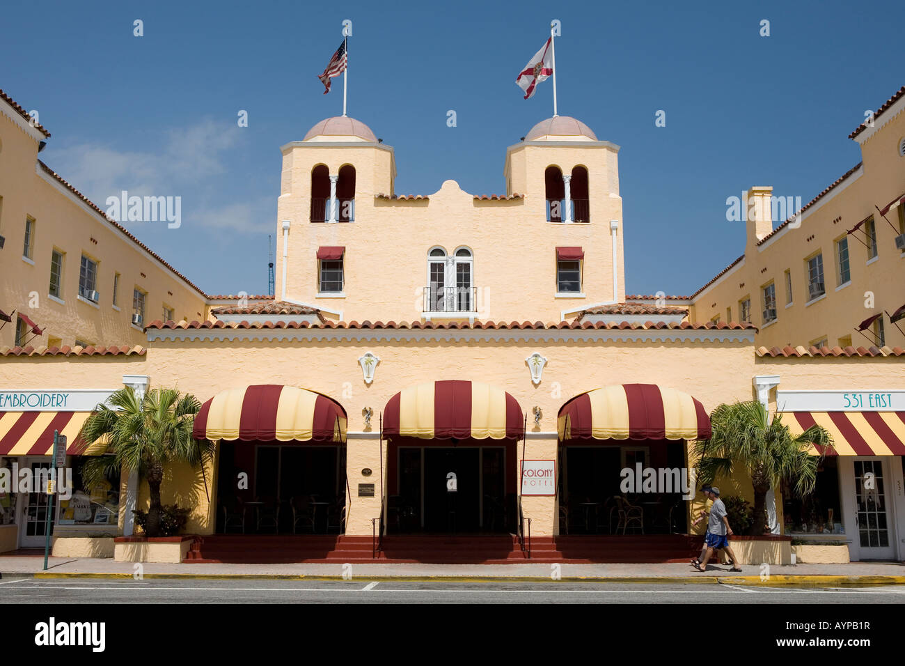 The art deco Colony Hotel Delray Beach Florida - Stock Image