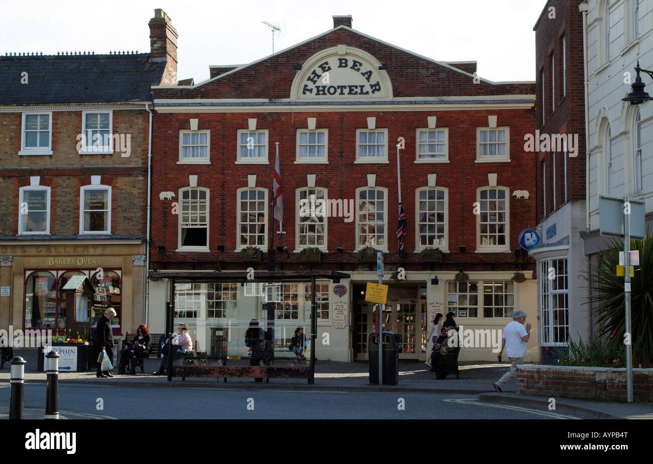 The Bear Hotel Wantage Town Centre Wantage Oxfordshire England - Stock Image