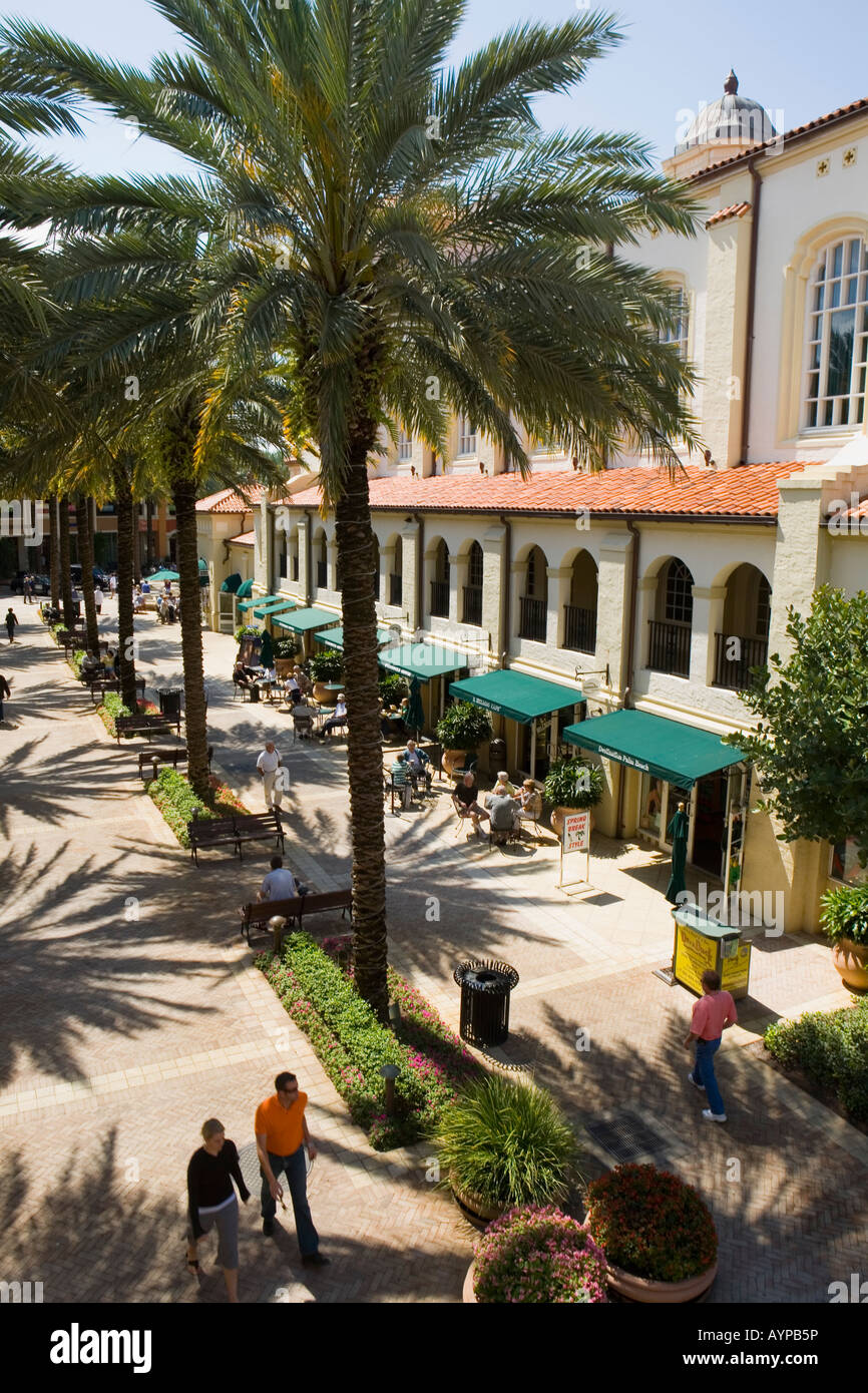 City Place and Harriet Himmell Theater West Palm Beach Florida Stock Photo