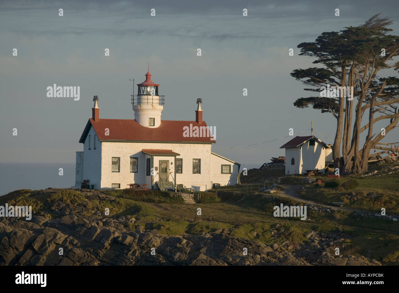 Battery Point Lighthouse. Stock Photo