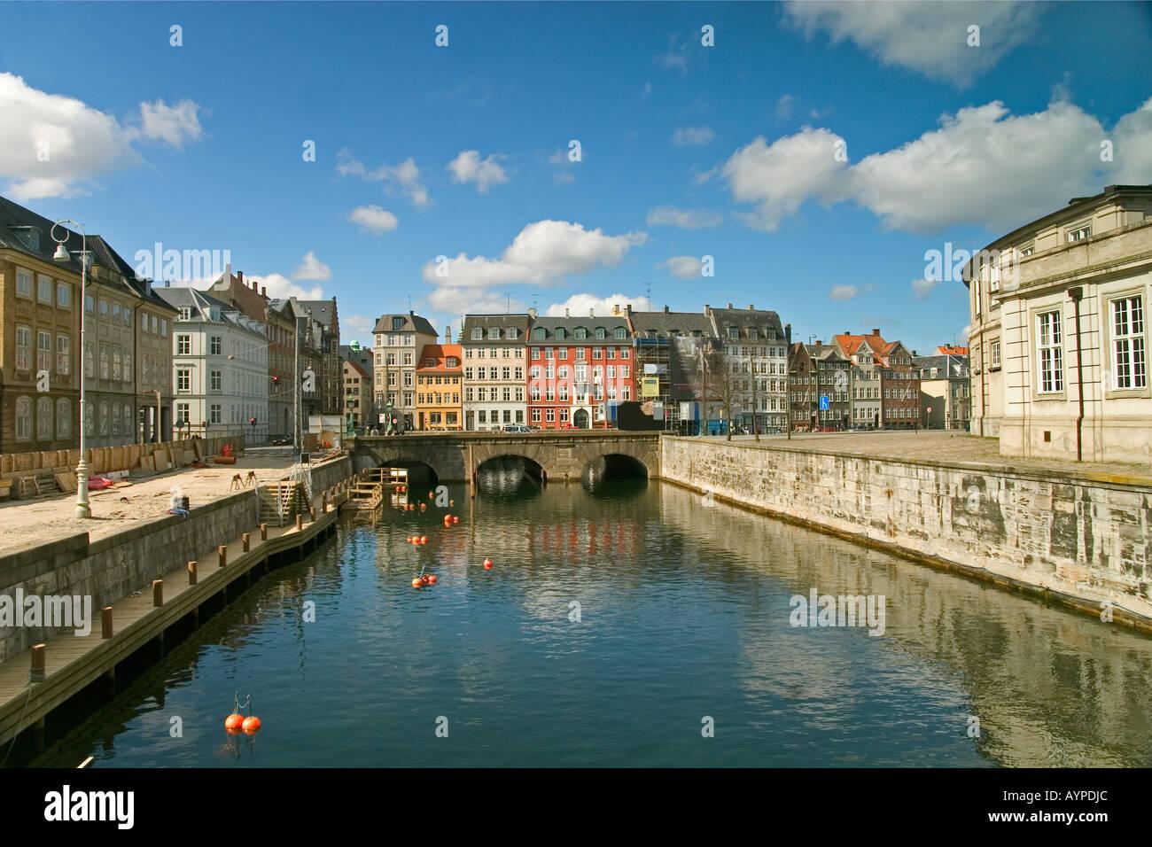 Frederiksholms Kanal Copenhagen Denmark - Stock Image