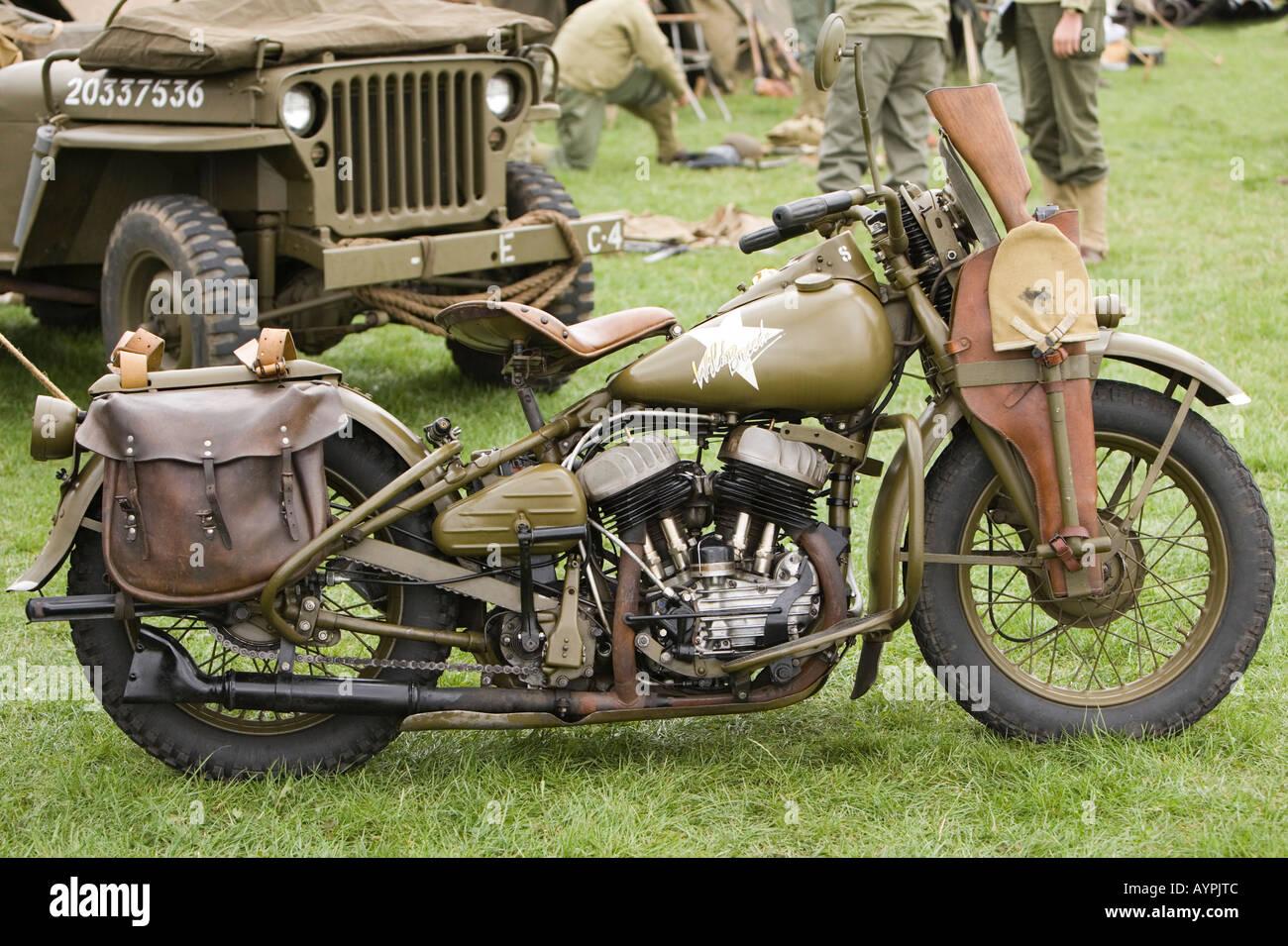 Harley Davidson Army: Harley Davidson Motorcycle US Army WLA Stock Photo