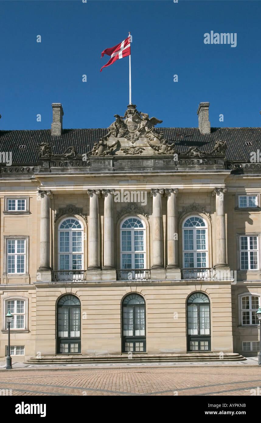 Detail Amalienborg The Royal Palace Copenhagen Denmark - Stock Image