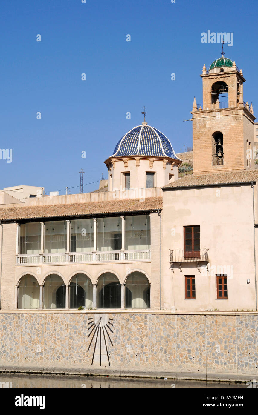 Episcopal Palace, Cathedral and Segura River, Orihuela, Alicante, Spain - Stock Image