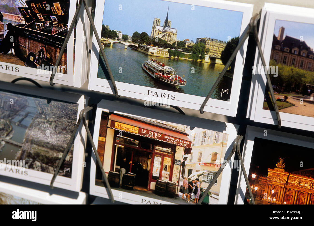 europe france paris a postcard stand - Stock Image