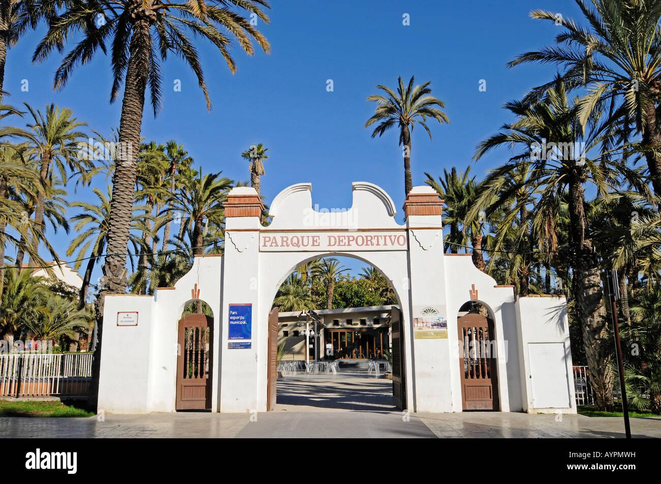 Sports center, Elche, Elx, Alicante, Costa Blanca, Spain - Stock Image