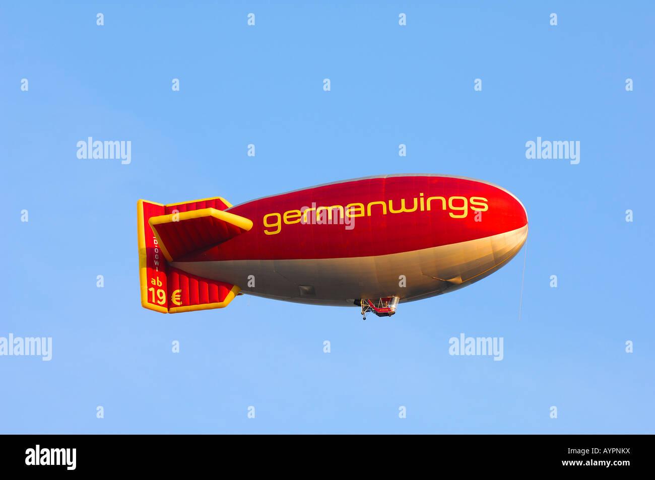 Germanwings logo on a blimp - Stock Image