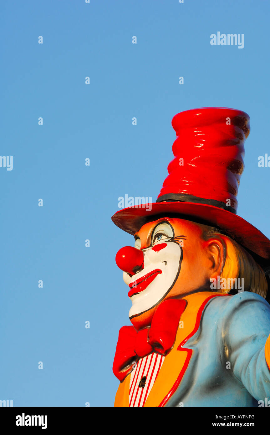 Clown sculpture at an annual fair - Stock Image