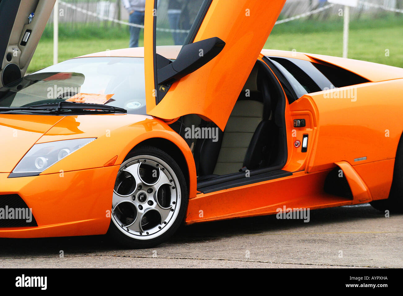 Front quarter view of Lamborghini Murcielago with doors open & Front quarter view of Lamborghini Murcielago with doors open Stock ...
