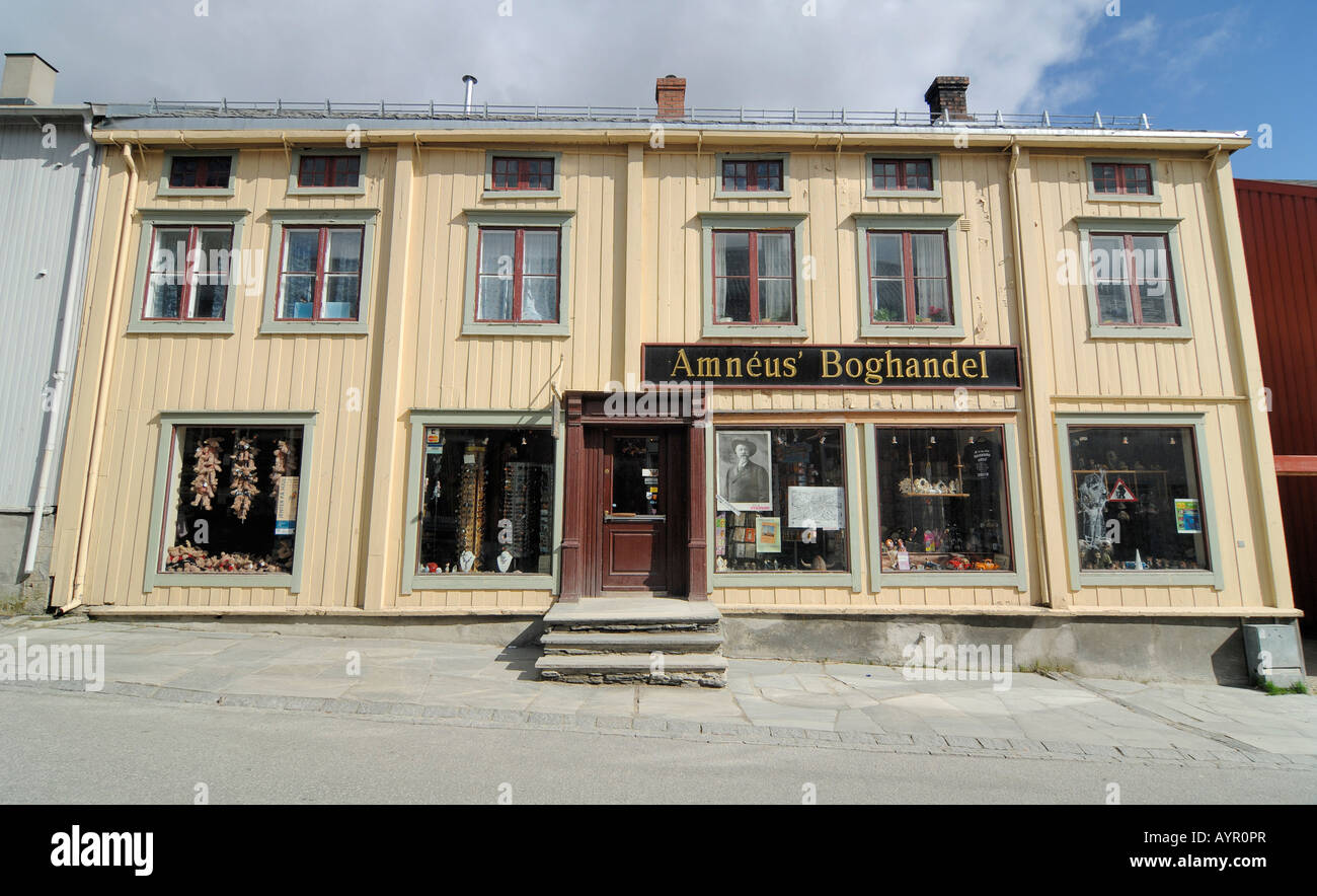 General store, antiques shop in Roeros, iron mining town, UNESCO World Heritage Site, Sor-Trondelag, Norway - Stock Image